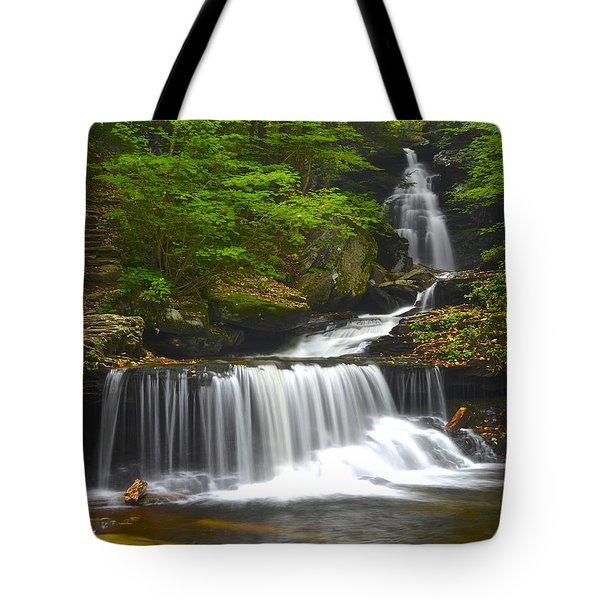 Ozone Falls Tote Bag by Frozen in Time Fine Art Photography