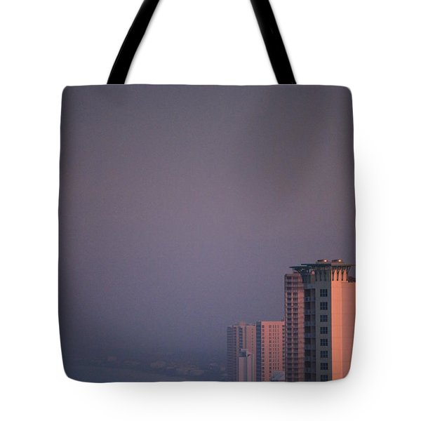Panama City Beach In The Morning Mist Tote Bag