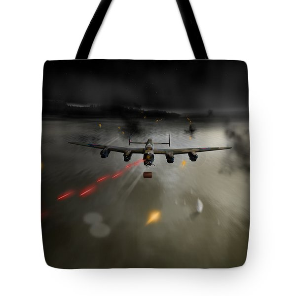 P-popsie Attacking The Mohne Dam Tote Bag by Gary Eason