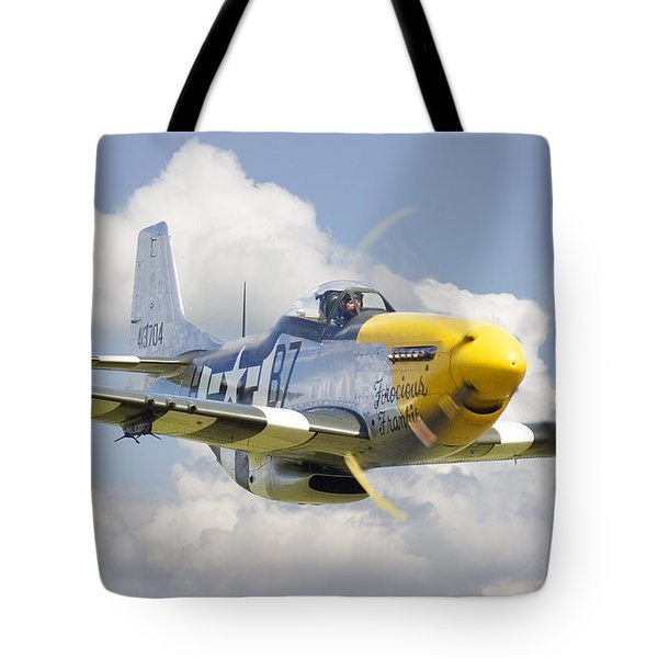 P51 Ferocious Frankie Tote Bag by Pat Speirs