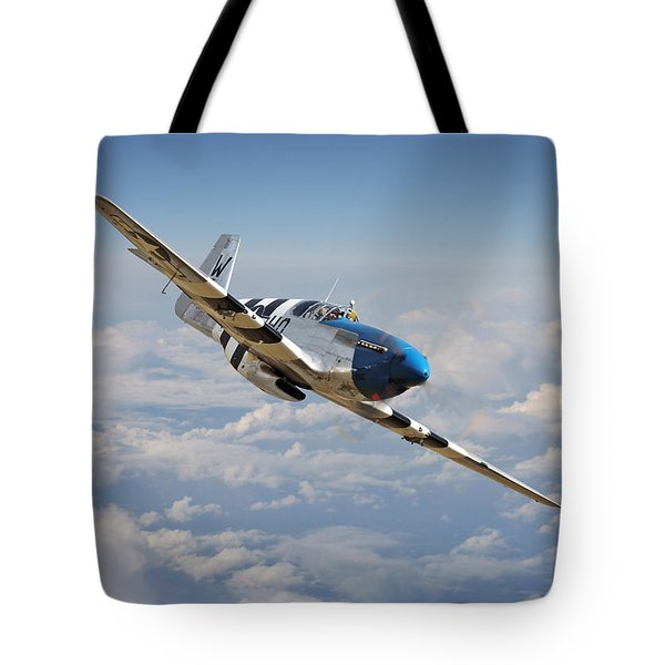 P51 Mustang - Symphony In Blue Tote Bag