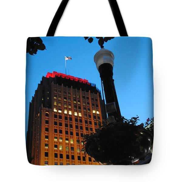 Pa Power Light And Allentown Symbol Tote Bag by Jacqueline M Lewis
