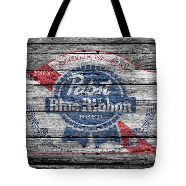 Pabst Blue Ribbon Beer Tote Bag