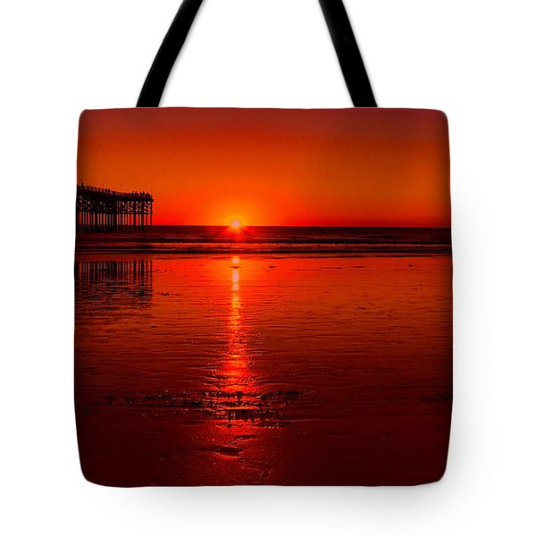 Pacific Beach Sunset Tote Bag