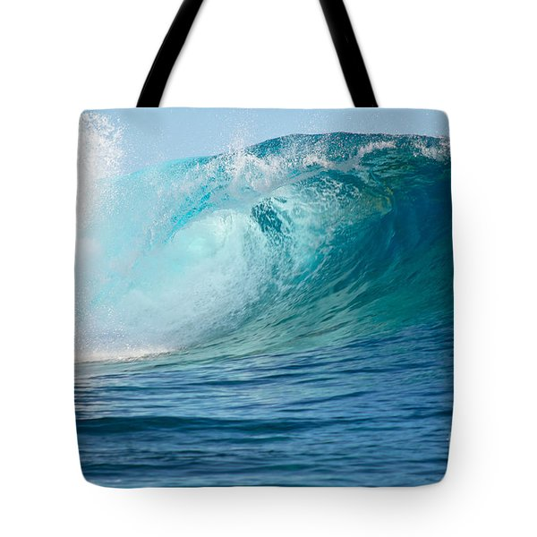 Pacific Big Wave Crashing Tote Bag