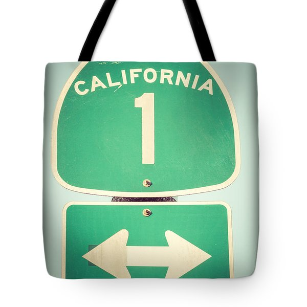 Pacific Coast Highway Sign California State Route 1  Tote Bag by Paul Velgos