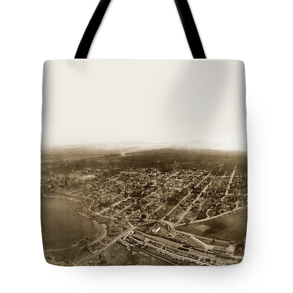 Pacific Grove 1200 From Feet Above Lovers Point And Monterey Bay 1906 Tote Bag