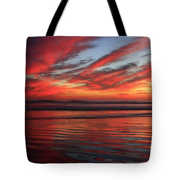 Tote Bag featuring the photograph Oceanside Reflections by John F Tsumas