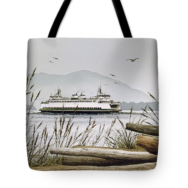 Pacific Northwest Ferry Tote Bag