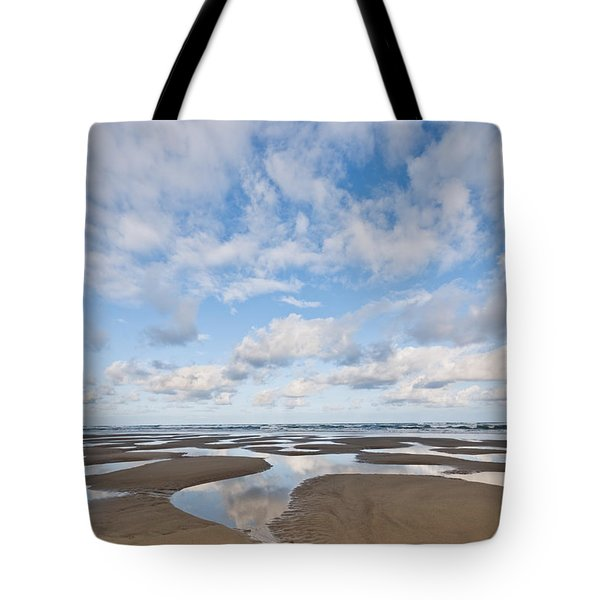 Pacific Ocean Beach At Low Tide Tote Bag