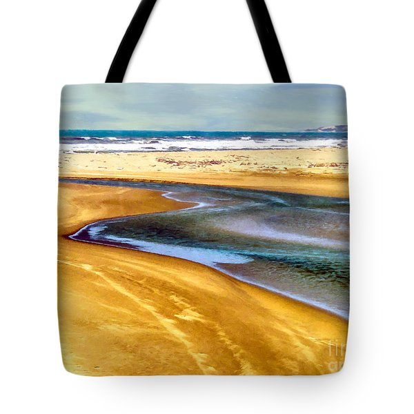 Pacific Ocean Beach Santa Barbara Tote Bag