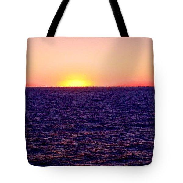 Pacific Sunset Off Laguna Beach Tote Bag by Bob and Nadine Johnston