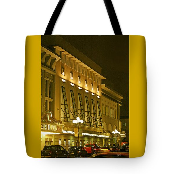 Pacific Theatres In San Diego At Night Tote Bag by Ben and Raisa Gertsberg