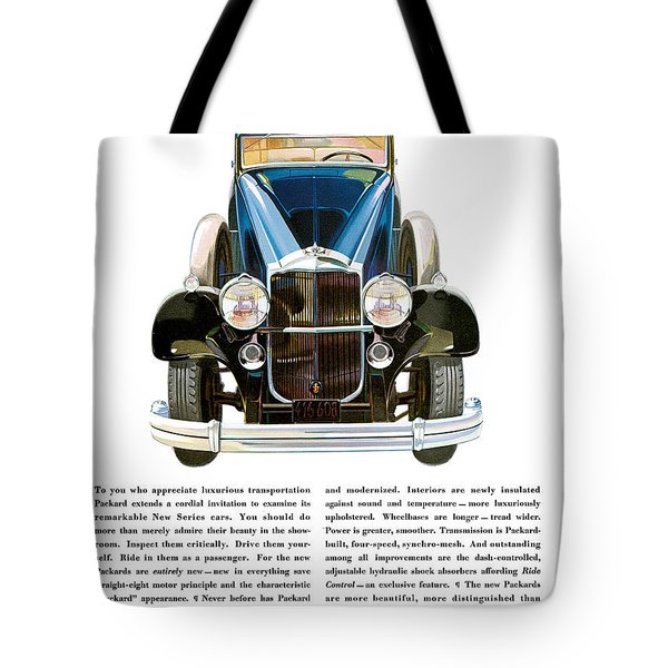 Packard Automobile - Vintage Poster Tote Bag