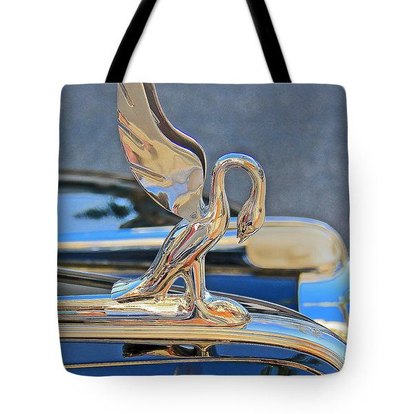 Packard Hood Ornament Tote Bag by Ben and Raisa Gertsberg