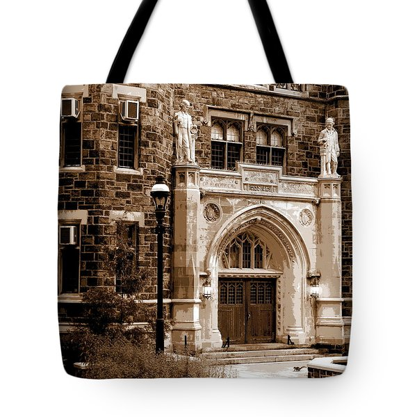 Packard Laboratory Sepia Tote Bag by Jacqueline M Lewis