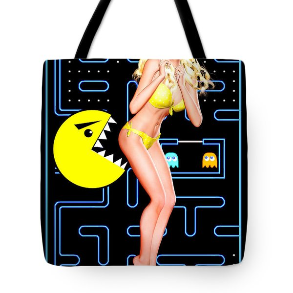 Pacman Girl - Once Bitten... Tote Bag