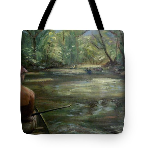Tote Bag featuring the painting Paddle Break by Donna Tuten