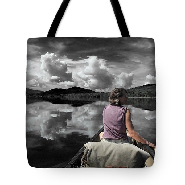 Paddling Attean Pond Tote Bag