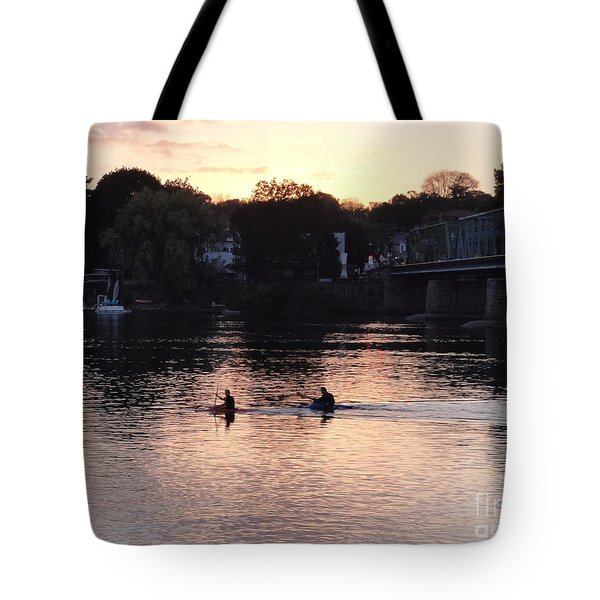 Paddling For Home Tote Bag