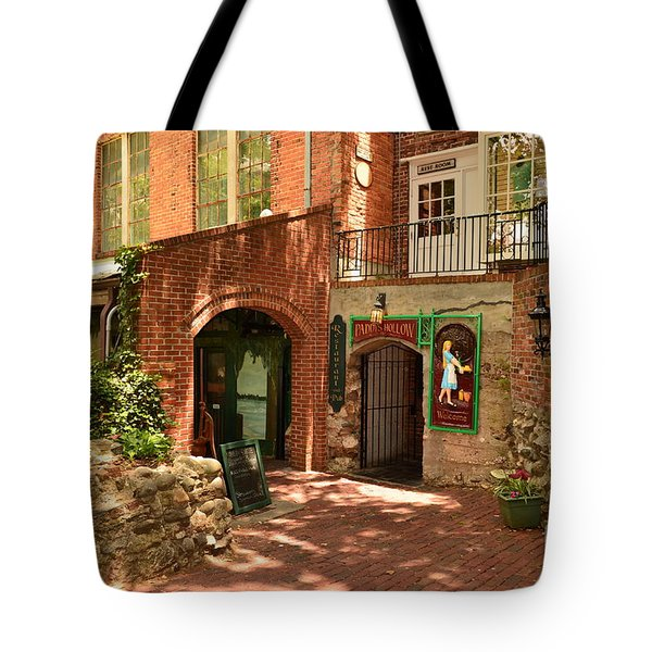 Tote Bag featuring the photograph Paddys Hollow Restaurant And Pub by Bob Sample