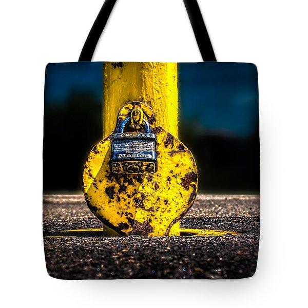 Padlock Number Two Tote Bag by Bob Orsillo