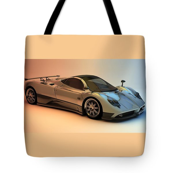 Pagani Zonda F Tote Bag by Louis Ferreira