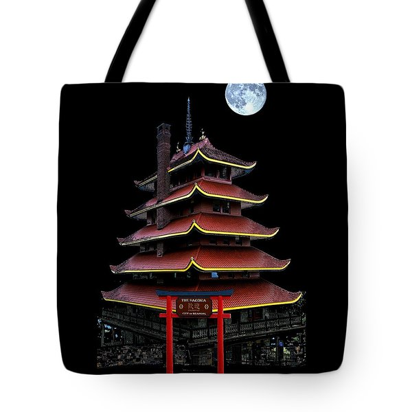 Pagoda Tote Bag by DJ Florek