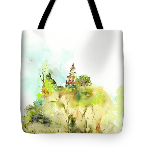 Pagoda Tote Bag by Len YewHeng