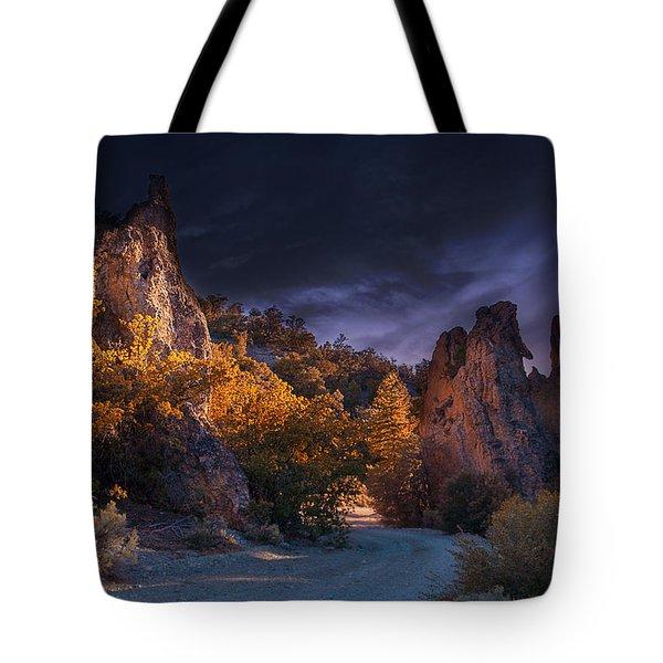 Pahrump - Road To Wheeler Peak Tote Bag