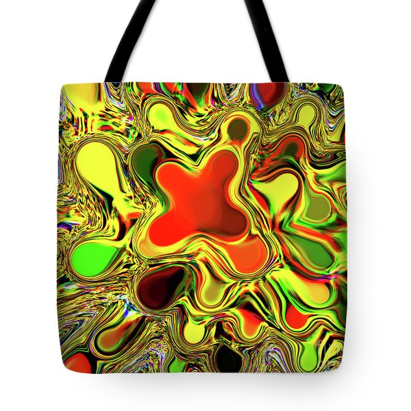 Paint Ball Color Explosion Tote Bag