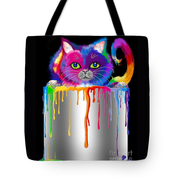 Paint Can Cat Tote Bag