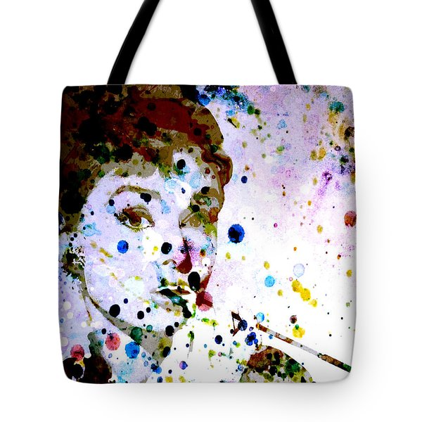 Tote Bag featuring the digital art Paint Drops by Brian Reaves