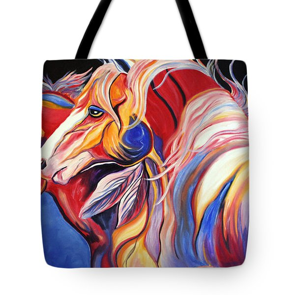 Paint Horse Colorful Spirits Tote Bag by Jennifer Godshalk