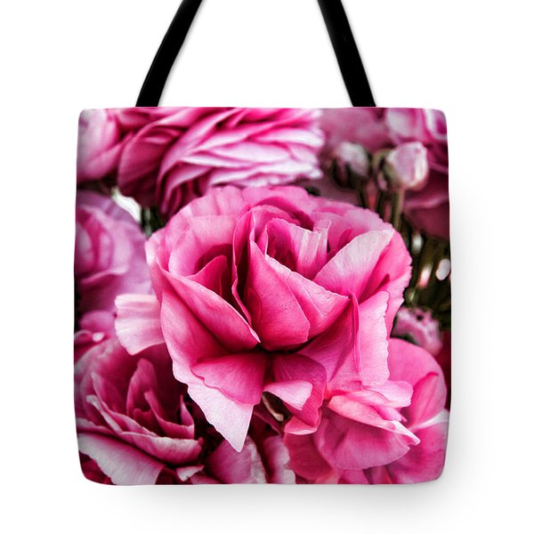 Paint Me Pink Ranunculus Flowers By Diana Sainz Tote Bag