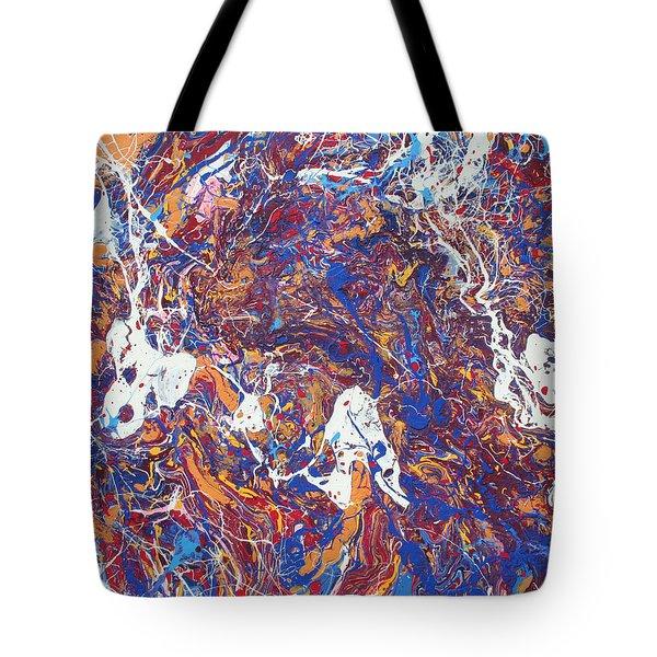 Paint Number Five Tote Bag by Ric Bascobert