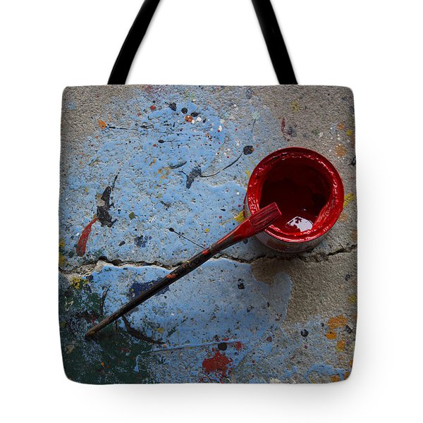 Paint The Town Red Tote Bag by Nola Lee Kelsey