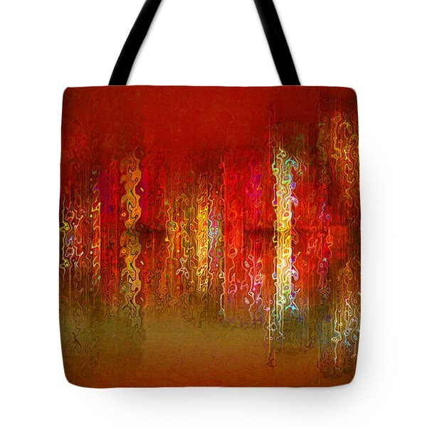 Paint The Town Red Tote Bag by Stuart Turnbull
