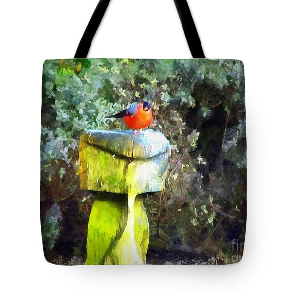 Painted Bullfinch S2 Tote Bag