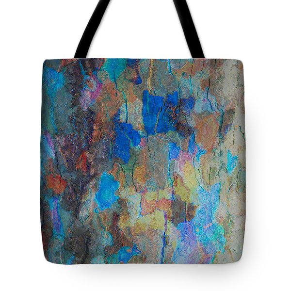 Painted Bark Tote Bag by Stephanie Grant