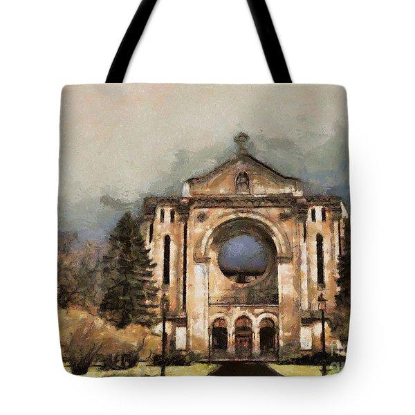 Painted Basilica Tote Bag by Teresa Zieba