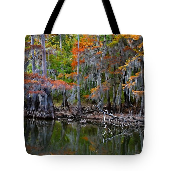 Painted Bayou Tote Bag