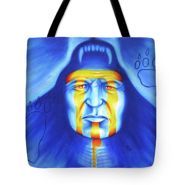 Painted Bear Tote Bag by Robert Martinez