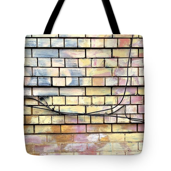 Painted Brick Tote Bag