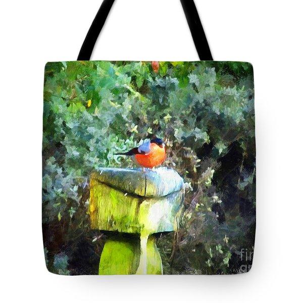 Painted Bullfinch S1 Tote Bag