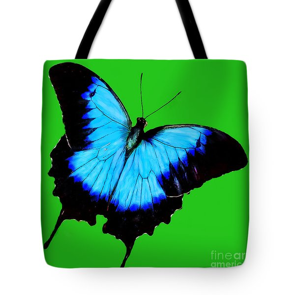 Painted Butterfly Tote Bag by Bob and Nadine Johnston