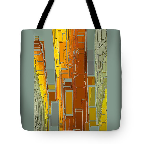 Painted City - Fantasy Cityscape Tote Bag by Ben and Raisa Gertsberg