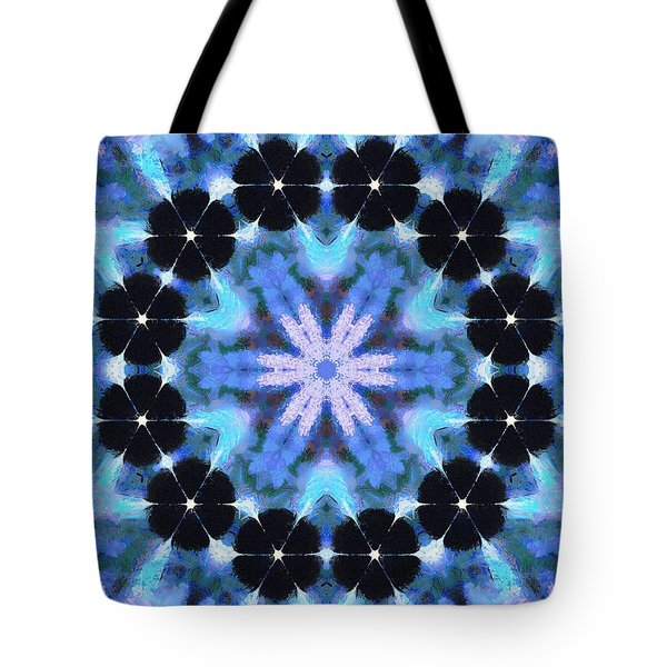 Painted Cymatics 108.00hz Tote Bag