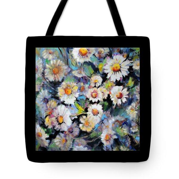Painted Daisy Tote Bag by Jodie Marie Anne Richardson Traugott          aka jm-ART
