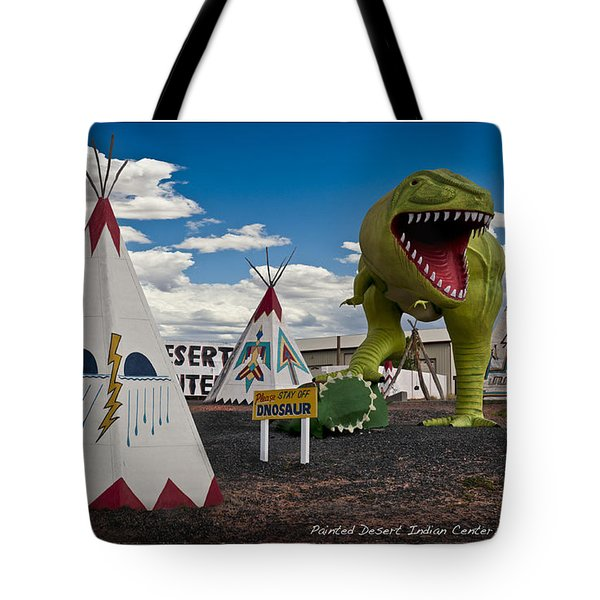 Painted Desert Indian Center  Tote Bag by Gary Warnimont